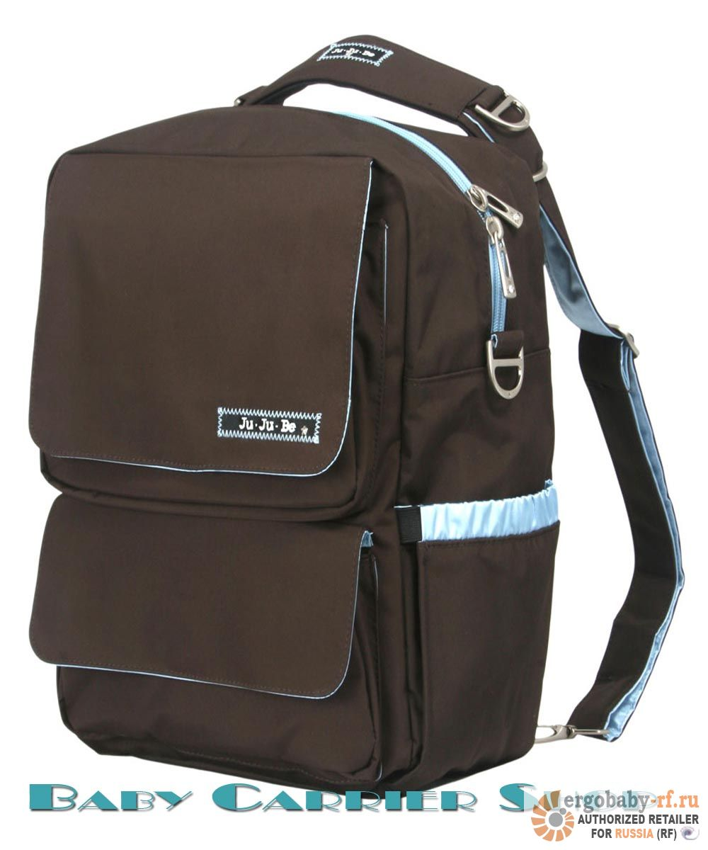 Сумка-рюкзак для мамы на коляску JU-JU-BE «Packa Be Brown Robin» Classic Collection JuJuBe [ЖуЖуБи Пакка Би]