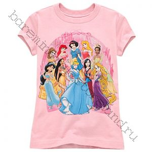 Glittering Disney Princess Tee for Girls
