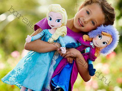 Мягкие куклы  Анна и Эльза . Комплект 2 мягкие куклы.