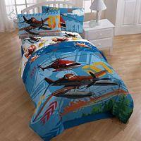 Покрывало-одеяло на кровать Тачки-Самолеты