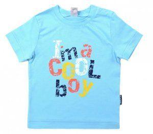 Майка для мальчика голубая (Размер: 80)