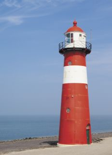 Postcard Lighthouse Norderoof. Westkapelle. Netherlands.