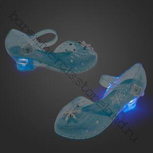 Туфли принцессы Эльзы (светящиеся) 17, 18, 20 см по стельке