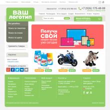 Спокойный пастельно-зелёный интернет-магазин