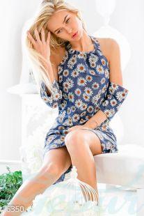 Сasual рокля от джинс в десен на цветя