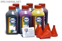 Чернила OCP для принтера и МФУ Canon MG7740, TS8040, TS9040 (BKP44, BK130, BK153, C153, M153, Y153), картриджи PGI-470, CLI-471, комплект 500 гр. x 6